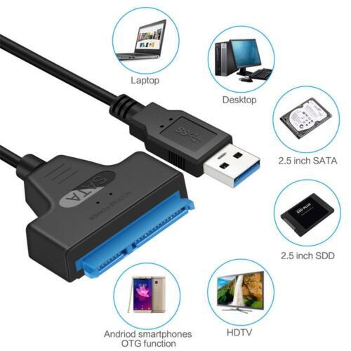 Καλώδιο αντάπτορας 22 Pin SATA3 σε USB     2.5'' Hard Drive HDD SSD SATA - 5655 UST22 OEM