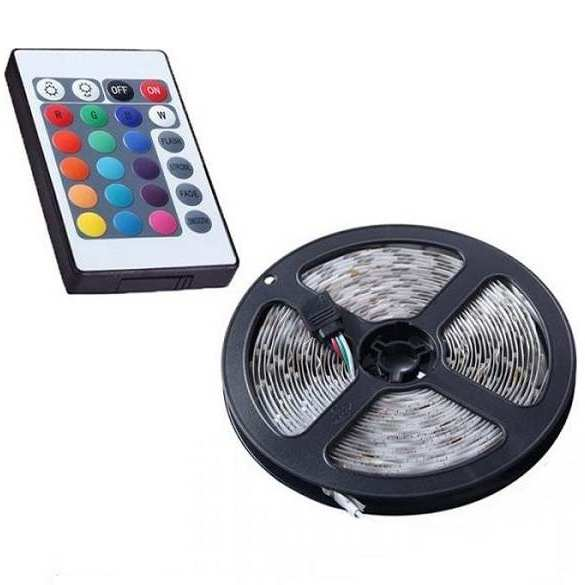 5 μέτρα αυτοκόλλητη LED ταινία με Τηλεχειριστήριο 12V IP65 RGBW - DP233 OEM