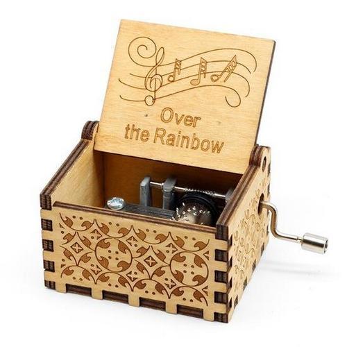 Ξύλινο μουσικό κουτί με το τραγούδι OVER THE RAINBOW από τον Μάγο του Οζ - MOZBOX  OEM