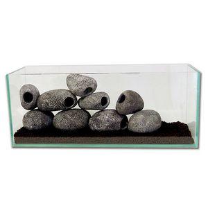 Διακοσμητική κεραμική πέτρα με σπηλιά κρυψώνα ψαριών κατάλληλη για ενυδρείο - CAV01 OEM