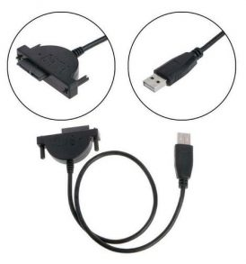Καλώδιο αντάπτορας USB σε SATA 13Pin(7+6) Optical Drive Adapter Cable - 2K06 OEM