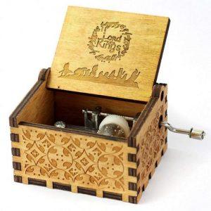LORD OF THE RINGS Ξύλινο music box. Μουσικό κουτί χειροκίνητο με μελωδία - LOTBO24  OEM