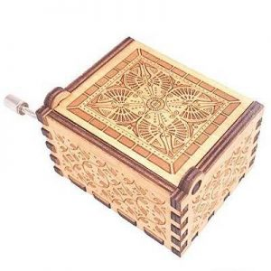 HAPPY BIRTHDAY Ξύλινο music box. Μουσικό κουτί χειροκίνητο με μελωδία - HBTMB34  OEM