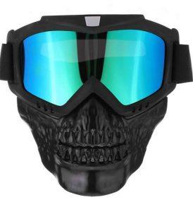 Μάσκα νεκροκεφαλή με αποσπόμενα γυαλιά κατάλληλη για snowboard σκι MTB σπορ – K320 OEM