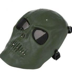 Paintball Airsoft μάσκα κρανίο ανθεκτική αδιάβροχη με ιμάντα και σίτα military - MQ09 OEM