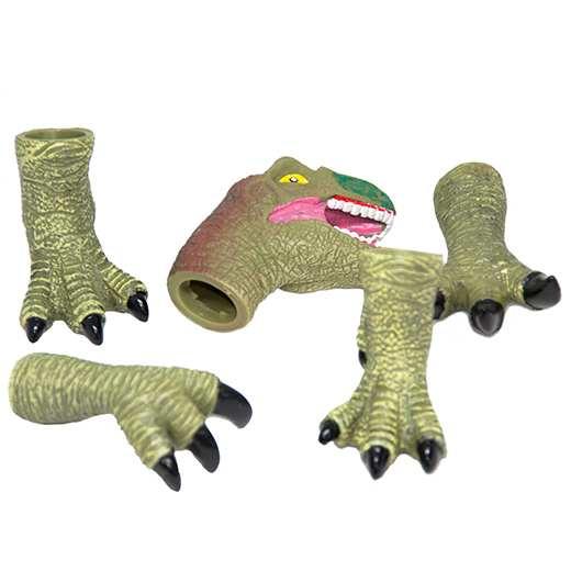 Σετ με 5 φιγούρες σιλικόνης για παιδικό κουκλοθέατρο δακτύλων Δεινόσαυρος - DYNSV05 OEM