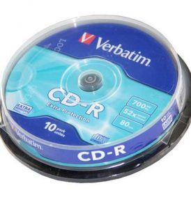 CD-R 700mb 80min 52X Extra Protection σε συσκευασία των 10τεμαχίων - 43437 VEBRATIM