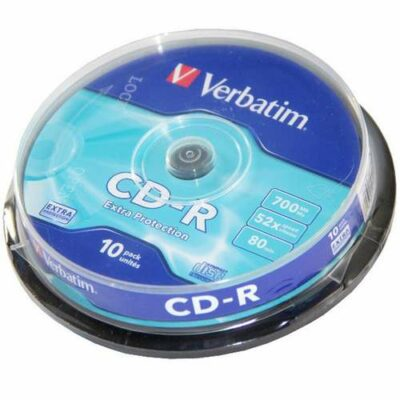 CD-R 700mb 80min 52X Extra Protection σε συσκευασία των 10τεμαχίων - 43437 VEBRATIM