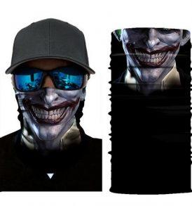 Μπαλακλάβα unisex 3D, μάσκα λαιμού με σχέδιο Scary Dark Blue Clown SDB02