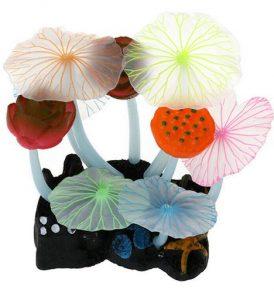 Διακοσμητικό βυθού ενυδρείου με άνθη λωτού που φωσφορίζουν - LSJW87 OEM