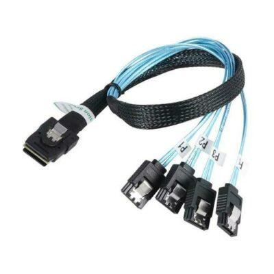 Καλώδιο 50cm SATA splitter απο 1 σε 4  / 1 to 4 SATA 7pin Mini SAS 36P SFF8087- OEM