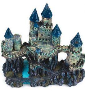 Διακοσμητικό βυθού ενυδρείου μπλε πύργος κάστρο σε λόφο Blue Castle  - BWJW113 OEM