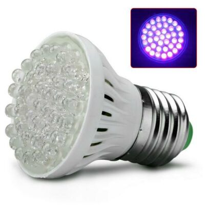 Super φωτεινή λάμπα Black Light UV 38LED φωτισμού βιδωτή για απλό ντουί Ε27- SMUV5 OEM