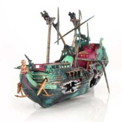 Διακοσμητικό βυθού ενυδρείου Μεγάλο πειρατικό σπασμένο καράβι ναυάγιο στο βυθό  - WPB24 OEM