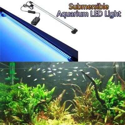 112cm Υποβρύχια αδιάβροχη LED μπάρα ενυδρείου λευκού και  μπλέ φωτισμού - AGBW112 OEM