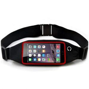 Αθλητικό τσαντάκι μέσης με θήκη αφής για τηλέφωνο 6 - 6.5  inches  και έξοδο ακουστικών - BG665 OEM