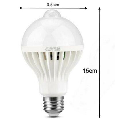 Λάμπα E27 LED 220V 9W ψυχρό λευκό με ραντάρ Ανιχνευτής Κίνησης και αυτόματο άνοιγμα - DP498 OEM