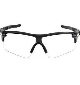 Ανθεκτικά σπορ γυαλιά UV400 ποδηλασίας μοτό με μαύρο σκελετο και διάφανο φακό  - NV00 OEM