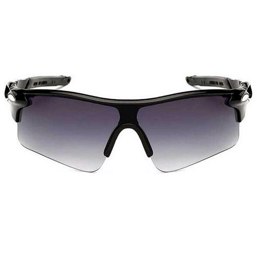 Ανθεκτικά σπορ γυαλιά UV400 ποδηλασίας μοτό με μαύρο σκελετο και γκρι ντεγκραντε φακό  - NV03 OEM