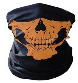 Μπαλακλάβα, μάσκα λαιμού,κρανίο σκελετός Skeleton Ghost Skull Face  Dark Yellow - DY12 OEM