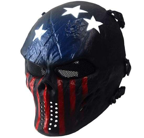 Paintball μάσκα full face protective, ανθεκτική αδιάβροχη με ιμάντα και σίτα Super Hero - CAAM27 OEM