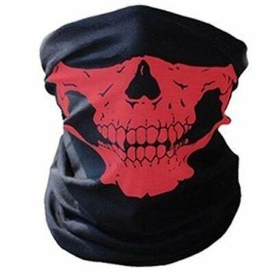Μπαλακλάβα, μάσκα λαιμού,κρανίο σκελετός Skeleton Ghost Skull Face Crimson Red - CR12 OEM
