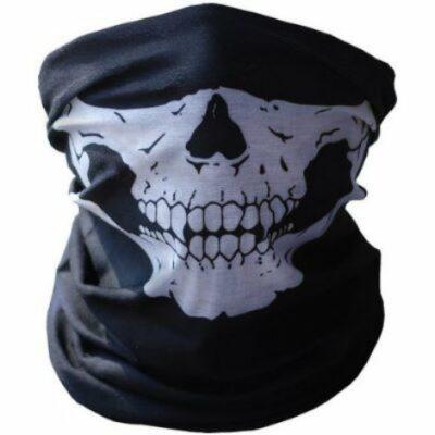 Μπαλακλάβα, μάσκα λαιμού,κρανίο σκελετός Skeleton Ghost Skull Face Grey light blue - DB12 OEM