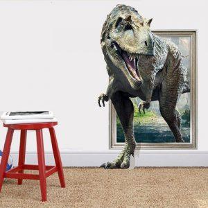 3D Αυτοκόλλητο τοίχου τρισδιάστατη είσοδος δεινοσαύρου  70X50 - 3DSEN OEM