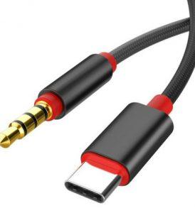 Καλώδιο ήχου αντάπτορας Type-C αρσενικό / miniJack Aux 3.5mm αρσενικό 100cm ATPS10 - OEM