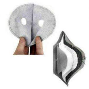 Σπορ μάσκα για ποδήλατο / σκι / μότο, με 2 βαλβίδες και εξτρά τετραπλό φίλτρο 4 Layers - BKF04 OEM