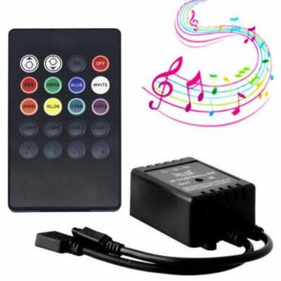 LED Music Controller με κοντρολ 20key και με ανιχνευτή ήχου για λεντοταινία   - LCTR20 OEM