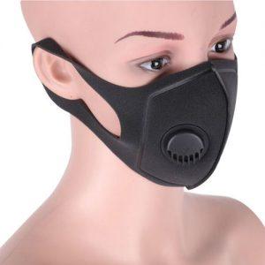 Carbon πλενόμενη μάσκα για ποδήλατο / σκι / μοτο, απο υλικό ενεργού άνθρακα και βαλβίδα - CRBN20 OEM
