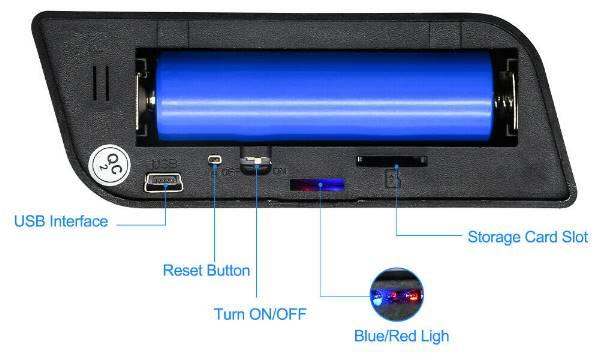 Ρολόι ξυπνητήρι κρυφή κάμερα Spy camera WiFi 1080P υποδοχή SD σύνδεση με κινητό - SMA106 OEM