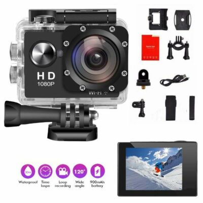 1080P Sport Action Camera με Zoom  Αδιάβροχη με 2'' LCD οθόνη full accessories - AUGIENB 1080