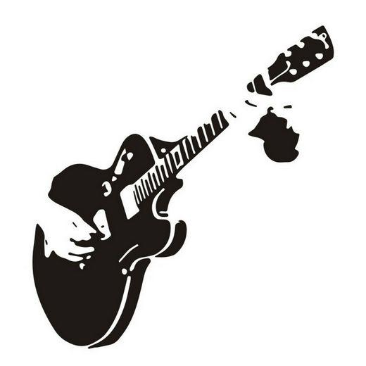 Αυτοκόλλητο τοίχου rock μουσική ηλεκτρική κιθάρα  50X30 - RCG5030 OEM