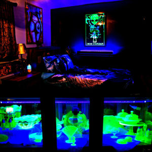 Black Light  40LED 10W 5V φωτιστική στήλη χρώμα UV Ultraviolet συμβατο και με USB - ULV40W OEM