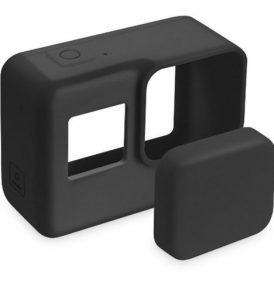 Προστατευτική θήκη σιλικόνης με καπάκι φακού για camera  Gopro Hero 5-6-7  - SILGP700 OEM