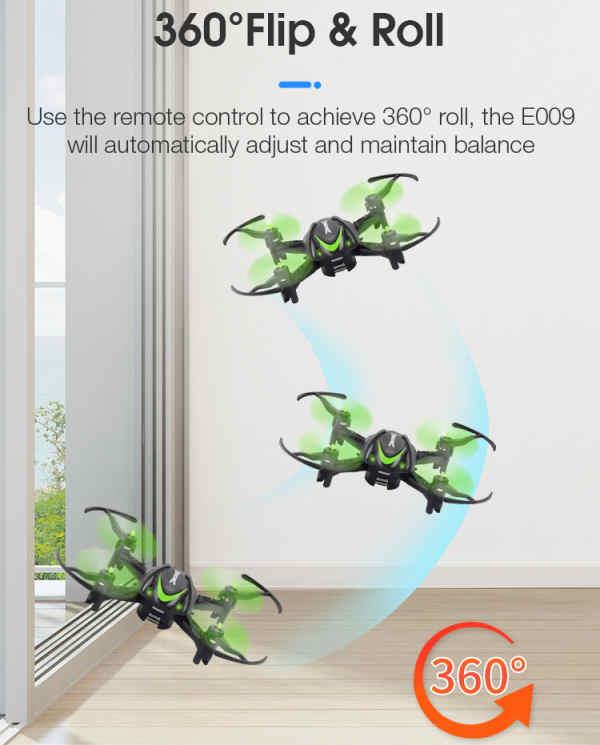 Τετρακόπτερο Drone Quadcopter,Headless Mode, Flip&Roll Palm 6Axis Gyro3D,One Key Return - E009  EACHINE