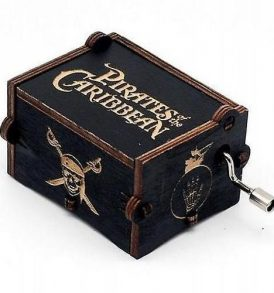 Pirrates Πειρατές Ξύλινο music box. Μουσικό κουτί χειροκίνητο με μελωδία - POCPB70  OEM