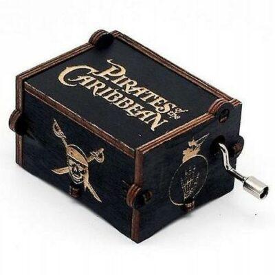 Pirates Πειρατές Ξύλινο music box. Μουσικό κουτί χειροκίνητο με μελωδία - POCPB70  OEM