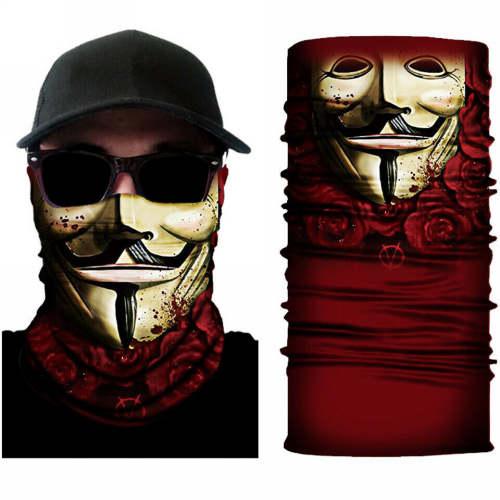Μπαλακλάβα λαιμού Anonymous κόμικ φιγούρα Guy Fawkes special edition - VFVS0202 OEM