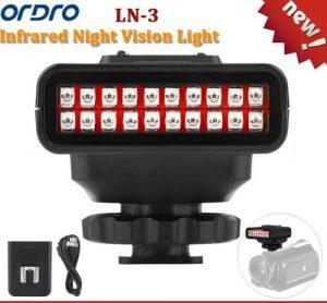 IR Υπέρυθρο φως για βιντεοκάμερες για όραση στο σκοτάδι επαναφορτιζόμενο -  LN3 ORDRO