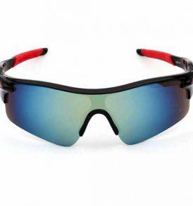 Ανθεκτικά γυαλιά UV400 ποδηλασίας μοτό με μαυρο σκελετο και απόχρωση κυανό φακού  - NV022 OEM