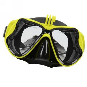 Υποβρύχια μάσκα κατάδυσης με βάση για Gopro και άλλες action cameras κίτρινη - SUB A41 OEM