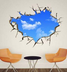 PVC Αυτοκόλλητο βινυλίου για τοίχο και ταβάνι με ουρανό και σύννεφα 70Χ50 - SCCL7050 OEM