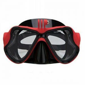 Υποβρύχια μάσκα κατάδυσης με βάση για Gopro και άλλες action cameras κόκκινη - SUB A39 OEM