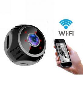 Μικροσκοπική 1080p ασύρματη WiFi Camera ,υπέρυθρες,Spy camera,360° , SD card slot - W8  OEM